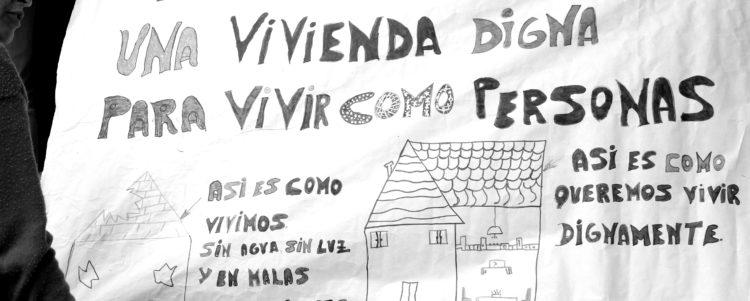 """"""" NO MÁS CASAS SIN GENTE, NO MÁS GENTE SIN CASA"""""""